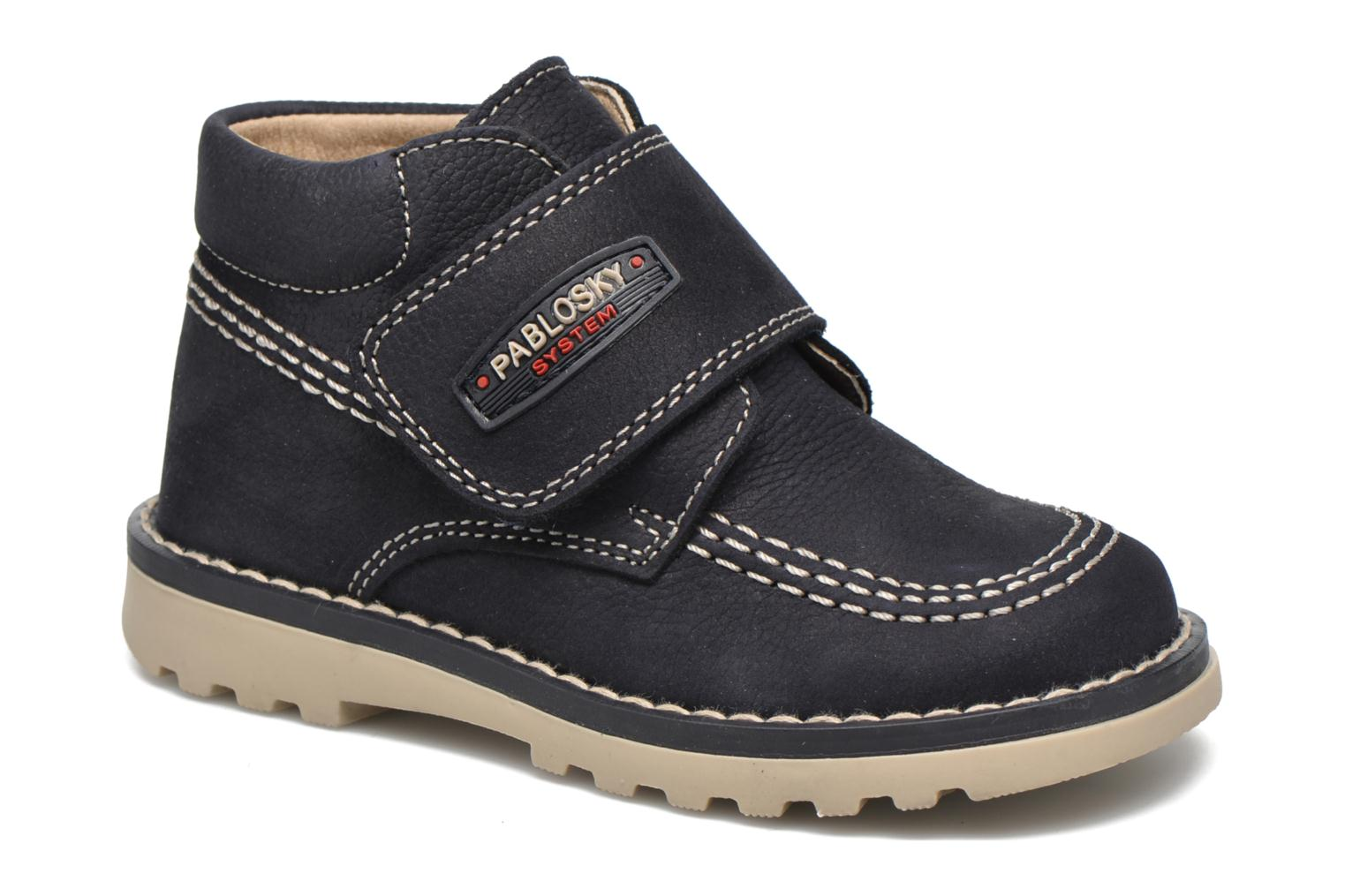 Ankle boots Pablosky Albertino Blue detailed view/ Pair view