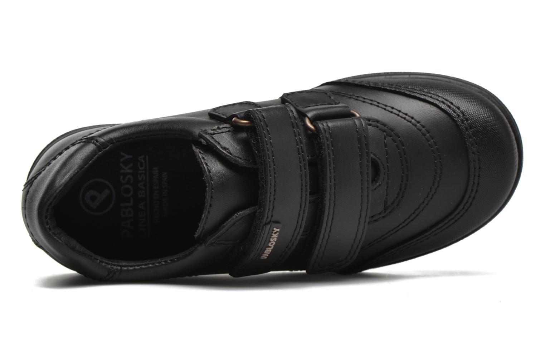 Chaussures à scratch Pablosky Beny Noir vue gauche