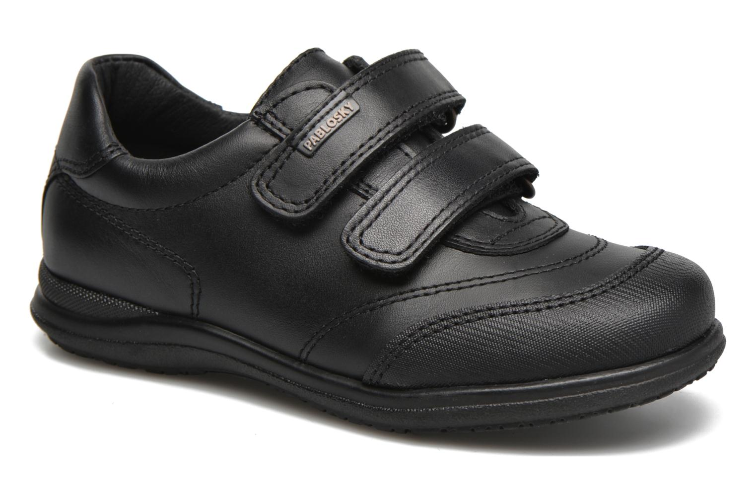Velcro shoes Pablosky Beny Black detailed view/ Pair view