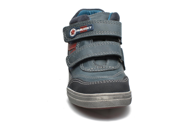 Baskets Pablosky Diego Bleu vue portées chaussures