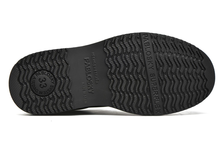 Chaussures à scratch Pablosky Hugo Noir vue haut