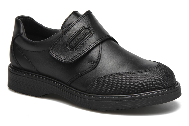 Chaussures à scratch Pablosky Hugo Noir vue détail/paire