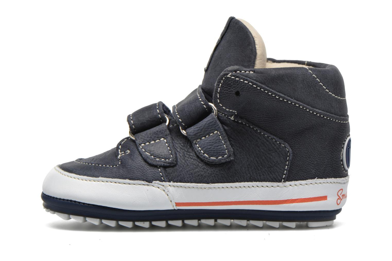 Chaussures à scratch Shoesme Simon Bleu vue face