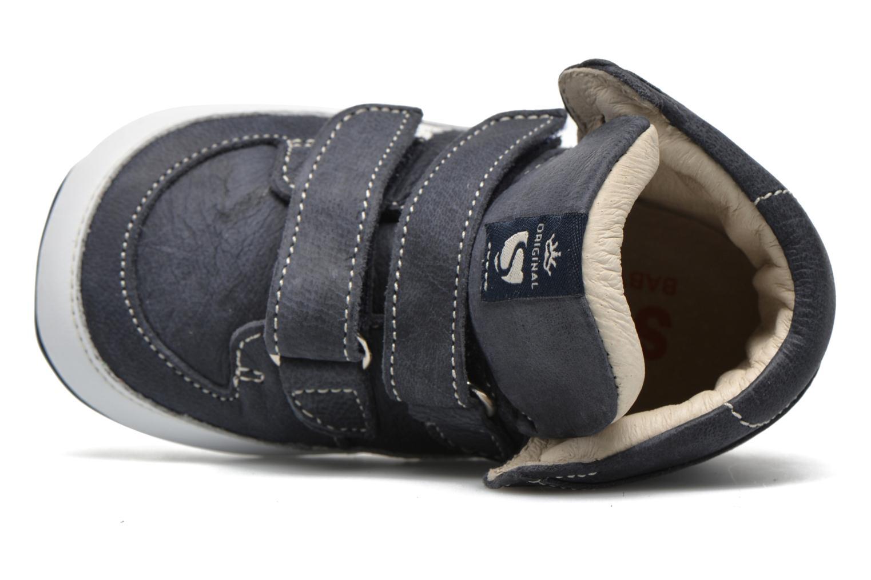mit Klettverschluss Shoesme Simon blau ansicht von links