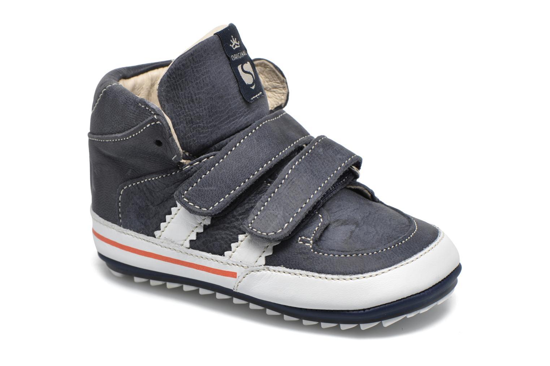 Sko med velcro Shoesme Simon Blå detaljeret billede af skoene