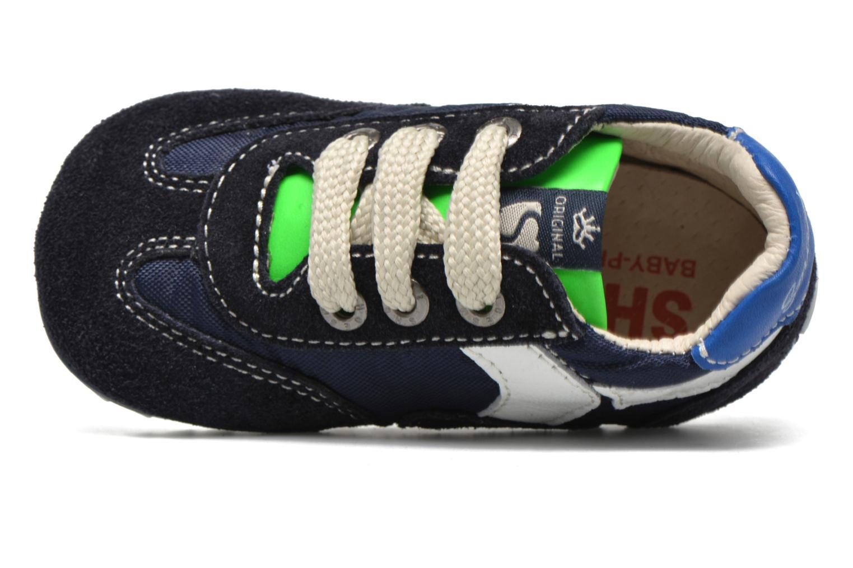 Sneaker Shoesme Sam blau ansicht von links
