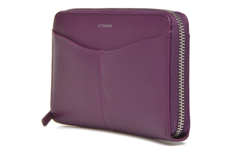 Wallets & cases Le Tanneur VALENTINE Porte-monnaie long zippé Purple model view