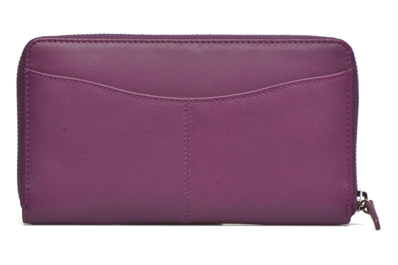 Wallets & cases Le Tanneur VALENTINE Porte-monnaie long zippé Purple front view