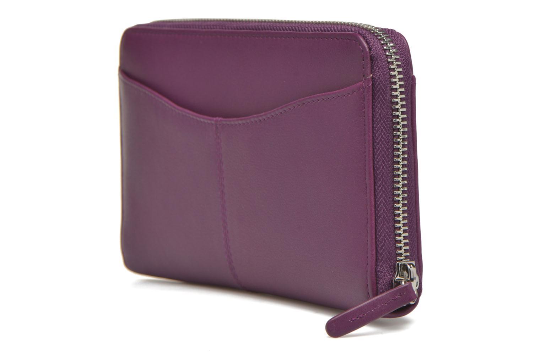 Wallets & cases Le Tanneur VALENTINE Porte-monnaie long zippé Purple view from the right