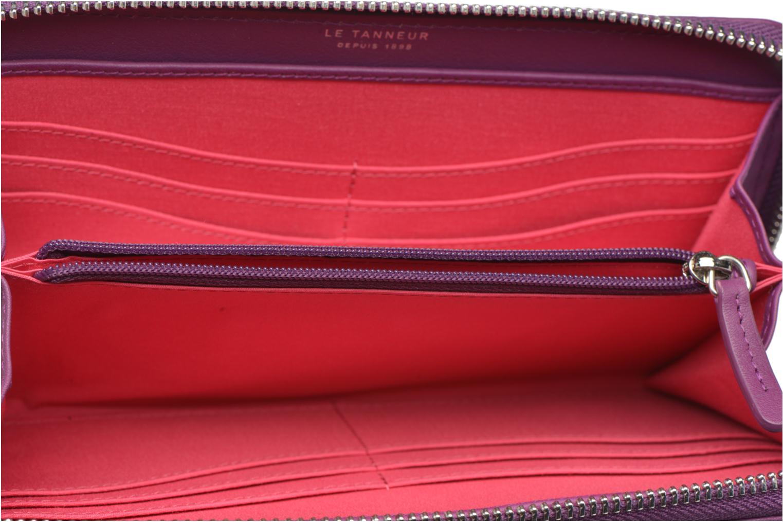 Wallets & cases Le Tanneur VALENTINE Porte-monnaie long zippé Purple back view
