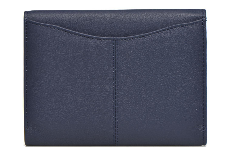 Petite Maroquinerie Le Tanneur VALENTINE Portefeuille poche zippée Bleu vue face