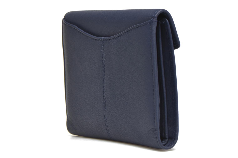 Petite Maroquinerie Le Tanneur VALENTINE Portefeuille poche zippée Bleu vue droite