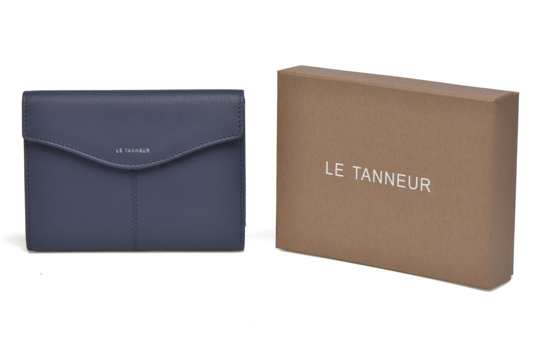 Petite Maroquinerie Le Tanneur VALENTINE Portefeuille poche zippée Bleu vue détail/paire