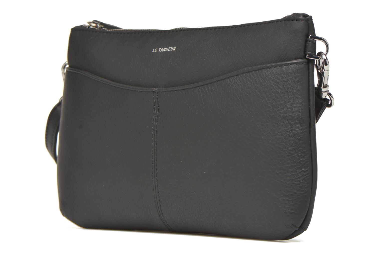 Sacs pochettes Le Tanneur VALENTINE Pochette zippée Noir vue portées chaussures