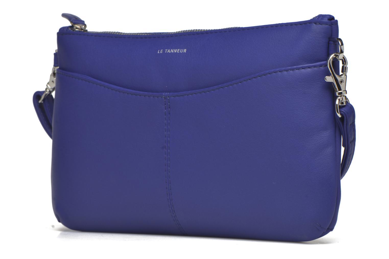 Sacs pochettes Le Tanneur VALENTINE Pochette zippée Bleu vue portées chaussures