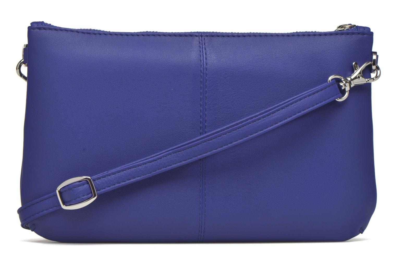 Sacs pochettes Le Tanneur VALENTINE Pochette zippée Bleu vue face