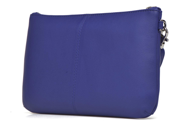 Sacs pochettes Le Tanneur VALENTINE Pochette zippée Bleu vue droite