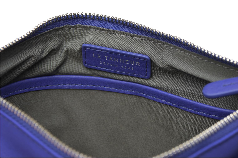 Sacs pochettes Le Tanneur VALENTINE Pochette zippée Bleu vue derrière