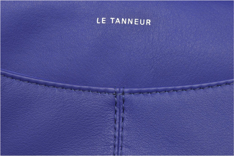 Sacs pochettes Le Tanneur VALENTINE Pochette zippée Bleu vue gauche