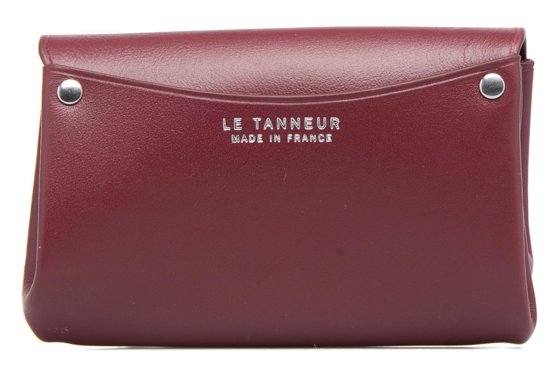 Marroquinería pequeña Le Tanneur SANS COUTURE Porte-monnaie Made in France Vino vista de frente