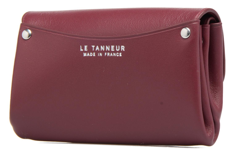 Petite Maroquinerie Le Tanneur SANS COUTURE Porte-monnaie Made in France Bordeaux vue droite