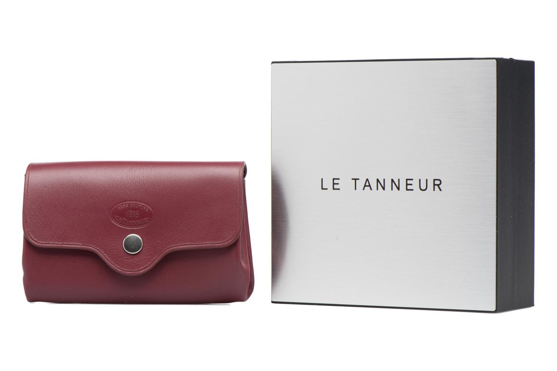 Petite Maroquinerie Le Tanneur SANS COUTURE Porte-monnaie Made in France Bordeaux vue détail/paire