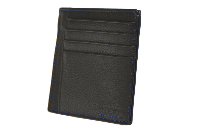 MARIUS Porte-papiers 3 poches Noir/bleu