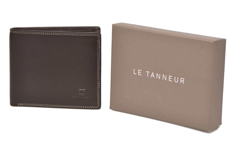 Petite Maroquinerie Le Tanneur TOURAINE Porte-billets poche monnaie rabat Marron vue détail/paire