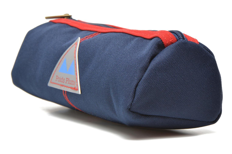 Scolaire Poids Plume Trousse triangle unie Bleu vue portées chaussures