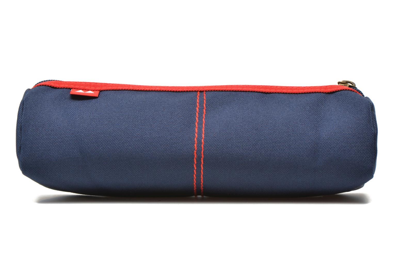 School bags Poids Plume Trousse triangle unie Blue front view
