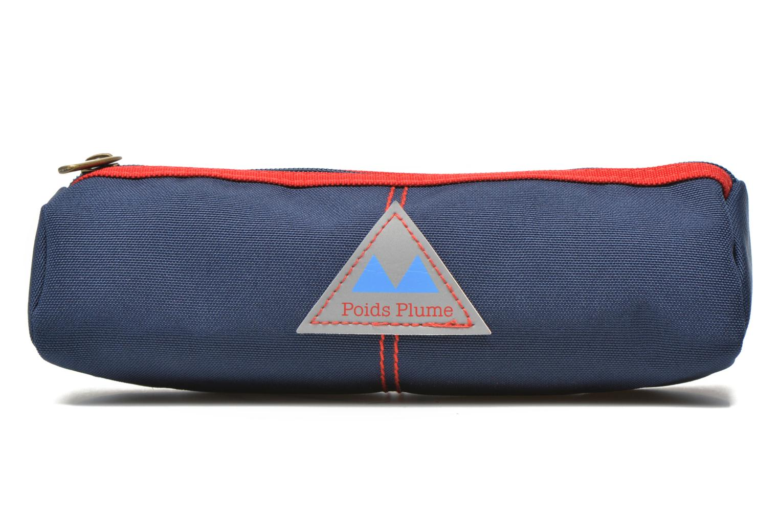 Trousse triangle unie Bleu rouge