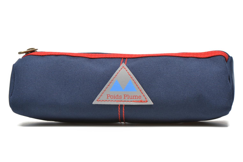 Scolaire Poids Plume Trousse triangle unie Bleu vue détail/paire