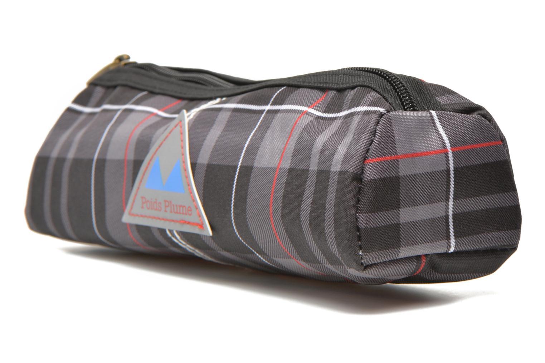 School bags Poids Plume Trousse triangle tartan Grey model view