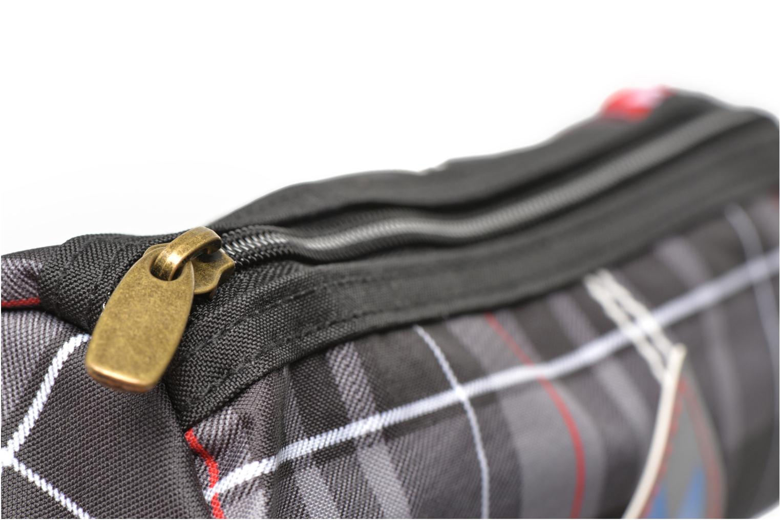 School bags Poids Plume Trousse triangle tartan Grey view from the left