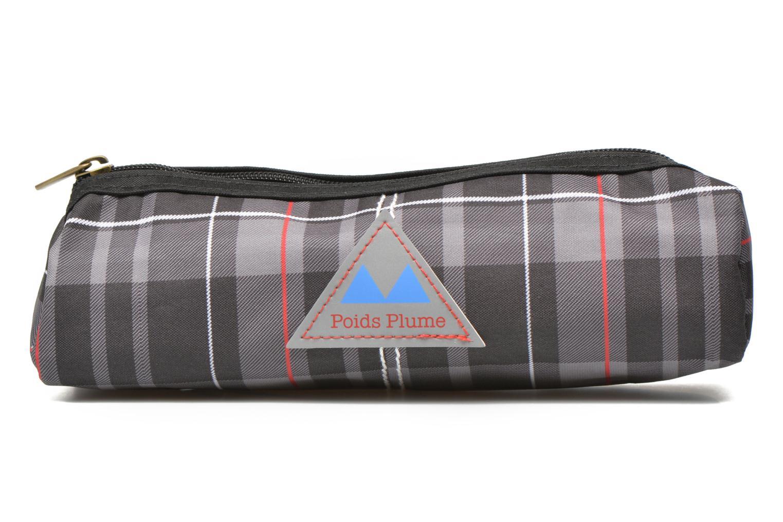 Scolaire Poids Plume Trousse triangle tartan Gris vue détail/paire