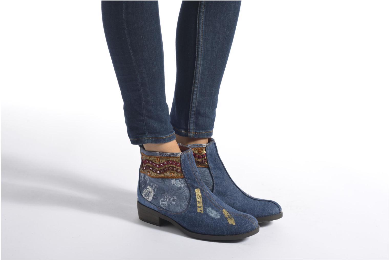 Bottines et boots Desigual Denim patch boho Multicolore vue bas / vue portée sac