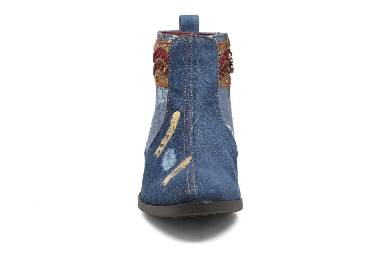 Bottines et boots Desigual Denim patch boho Multicolore vue portées chaussures