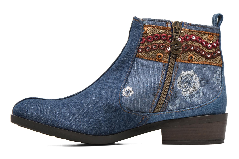 Bottines et boots Desigual Denim patch boho Multicolore vue face