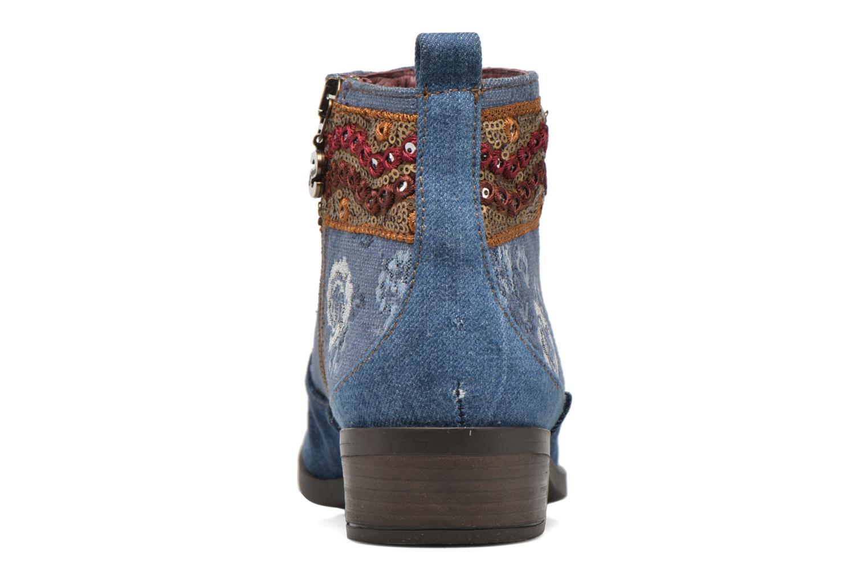 Bottines et boots Desigual Denim patch boho Multicolore vue droite
