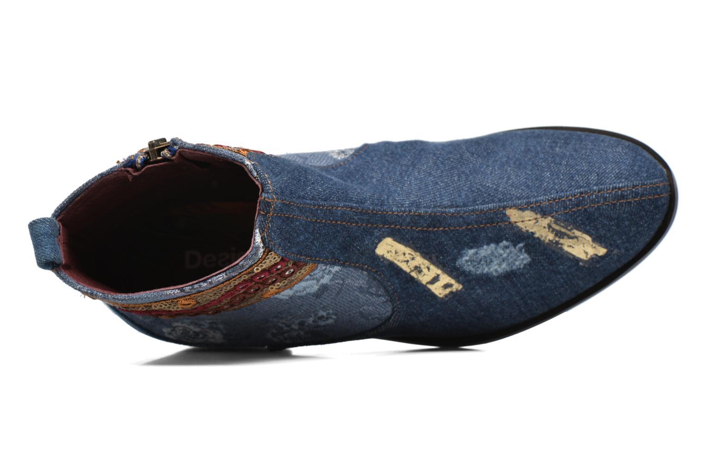 Bottines et boots Desigual Denim patch boho Multicolore vue gauche