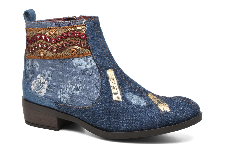 Bottines et boots Desigual Denim patch boho Multicolore vue détail/paire