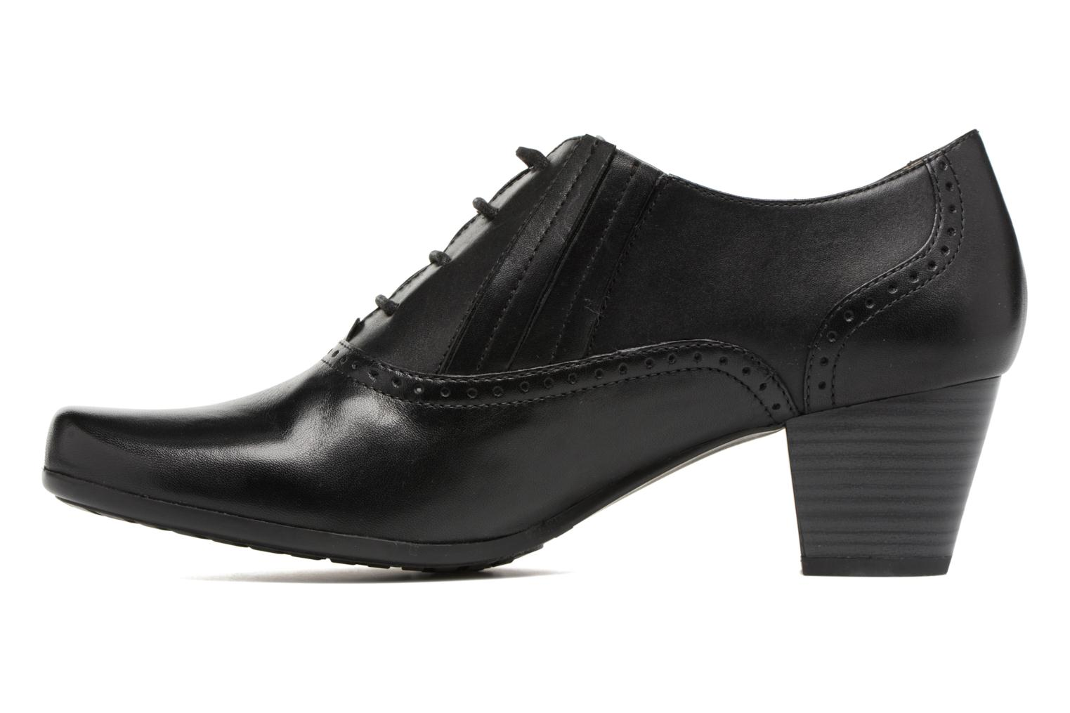 Lace-up shoes Caprice Shante Lace boot Black front view