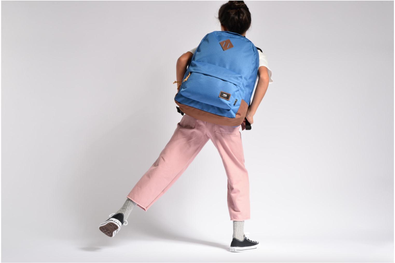 Sacs à dos Vans OLD SCHOOL PLUS Bleu vue haut