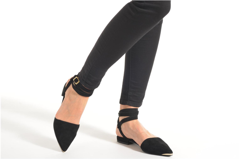 Sandales et nu-pieds SENSO Fleur II Noir vue bas / vue portée sac