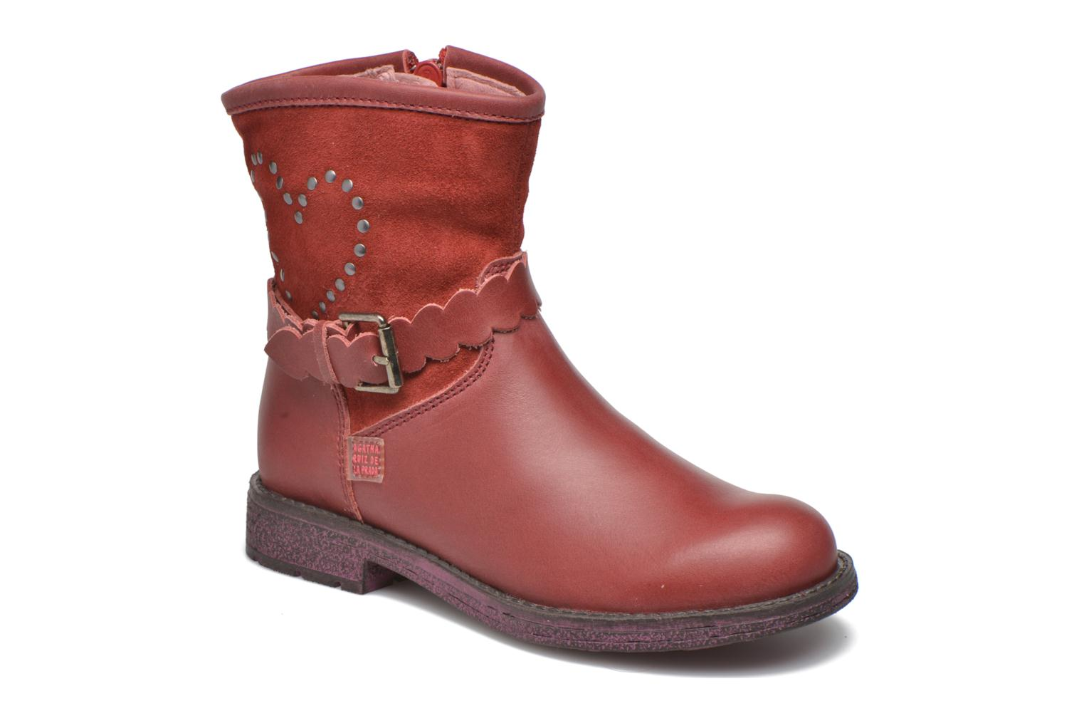 Ankle boots Agatha Ruiz de la Prada Vagabunda Agatha 2 Red detailed view/ Pair view