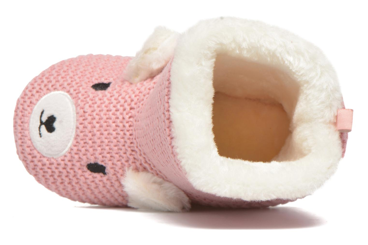 Chaussons Gioseppo Linaje Rose vue gauche
