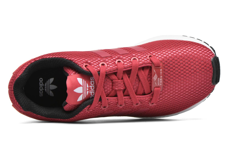 Baskets Adidas Originals Zx Flux C Rouge vue gauche