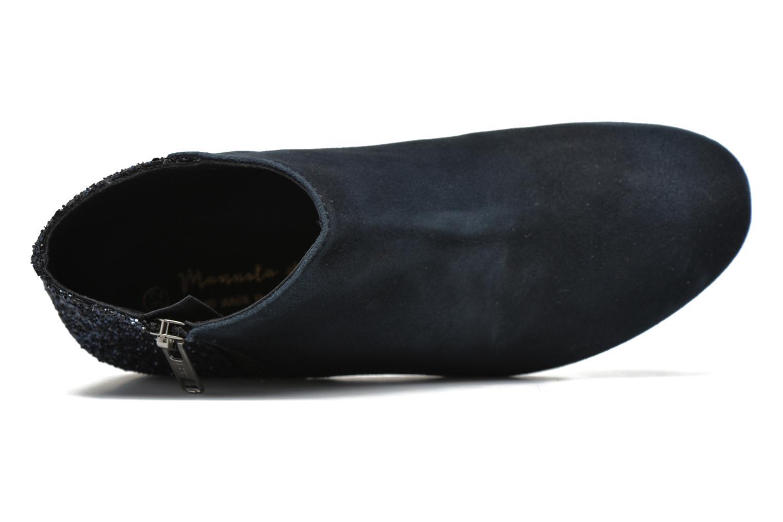 Bottines et boots Manuela de Juan Jenifer Bleu vue gauche