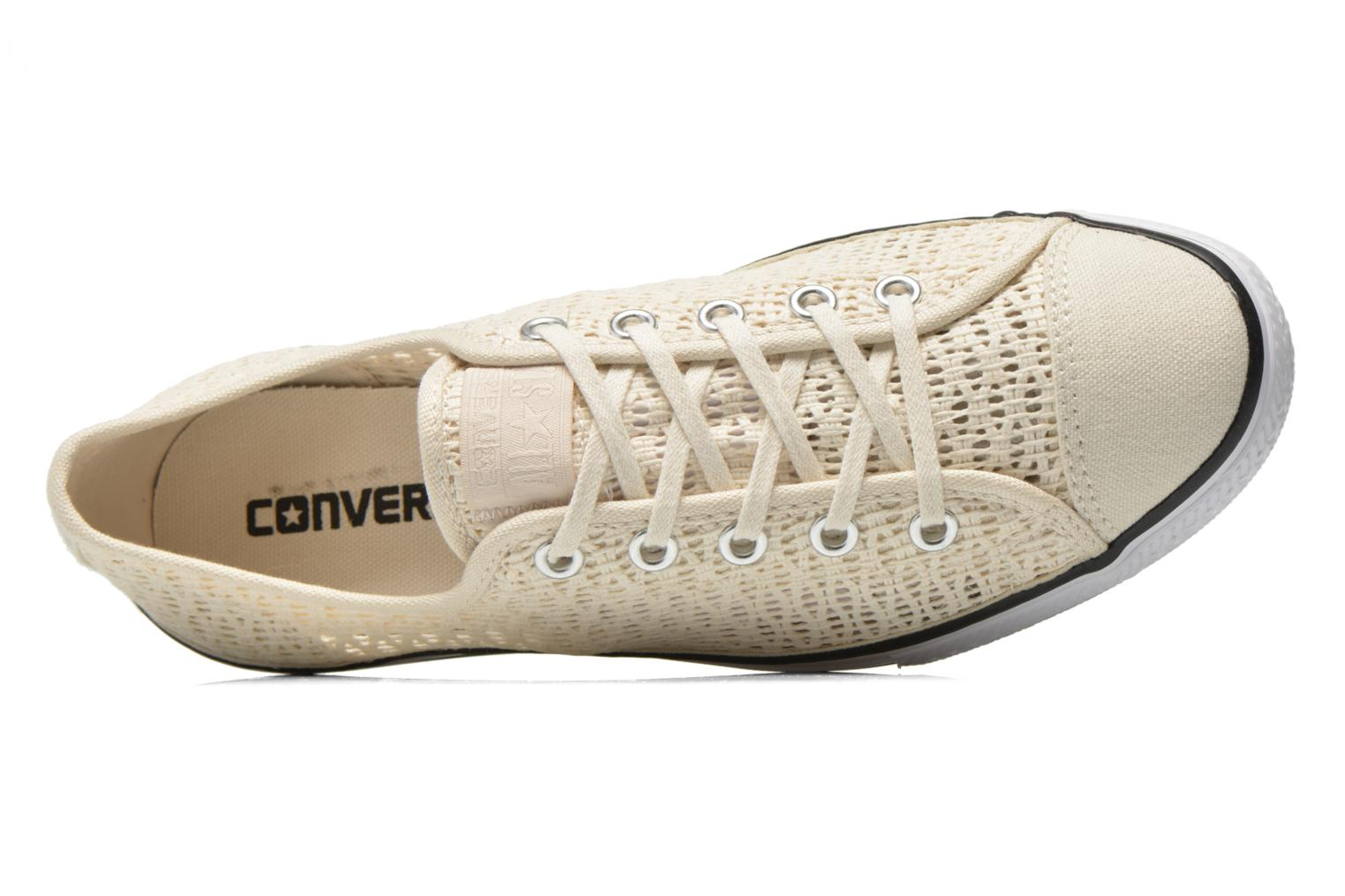 Sneakers Converse Chuck Taylor All Star High Line Ox Beige immagine sinistra
