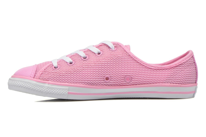 Sneaker Converse Chuck Taylor All Star Dainty Ox W rosa ansicht von vorne